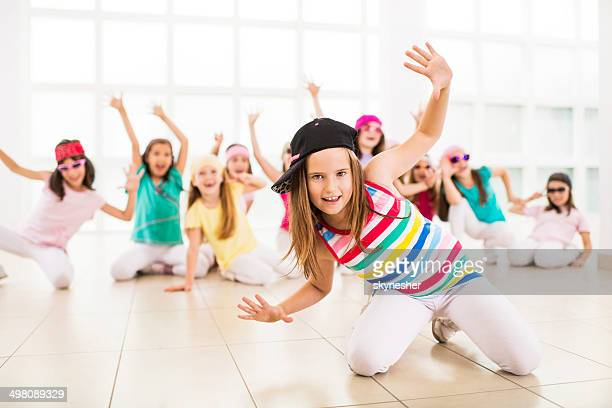 Little girls dancing.