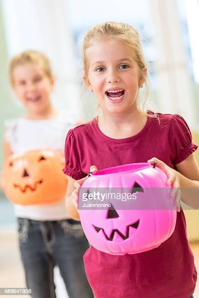 Little girls in halloween