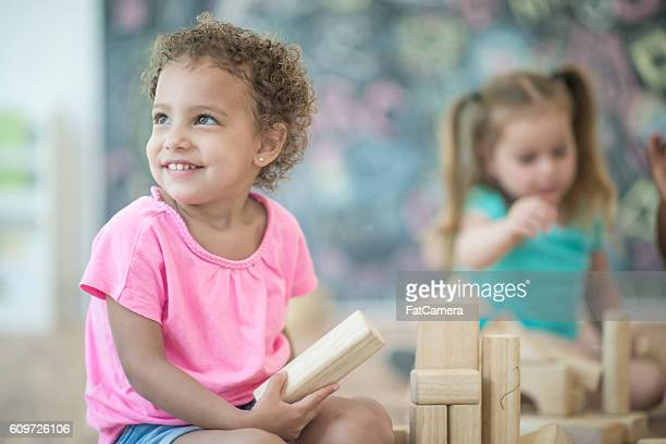 Little Girls in Preschool