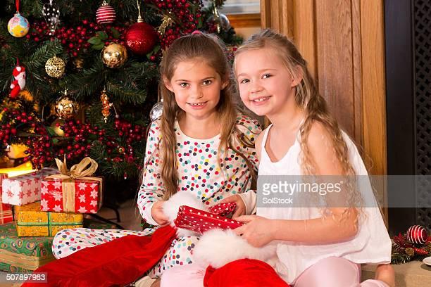 Little Girls On Christmas Day