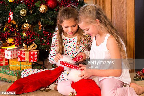 Little Girls On Christmas Day