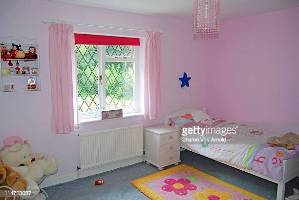 little girls pastel bedroom - childhood stock pictures, royalty-free photos & images