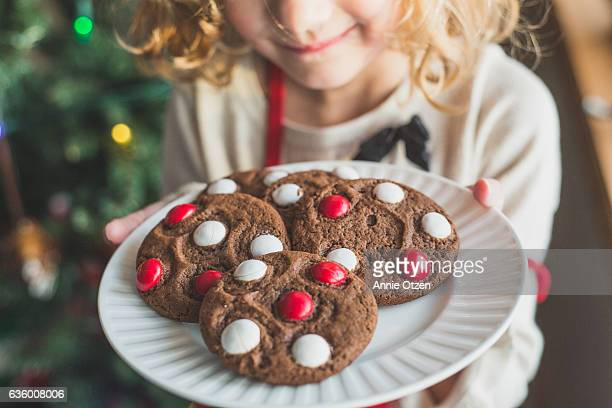 Little Girl's Plate of Cookies