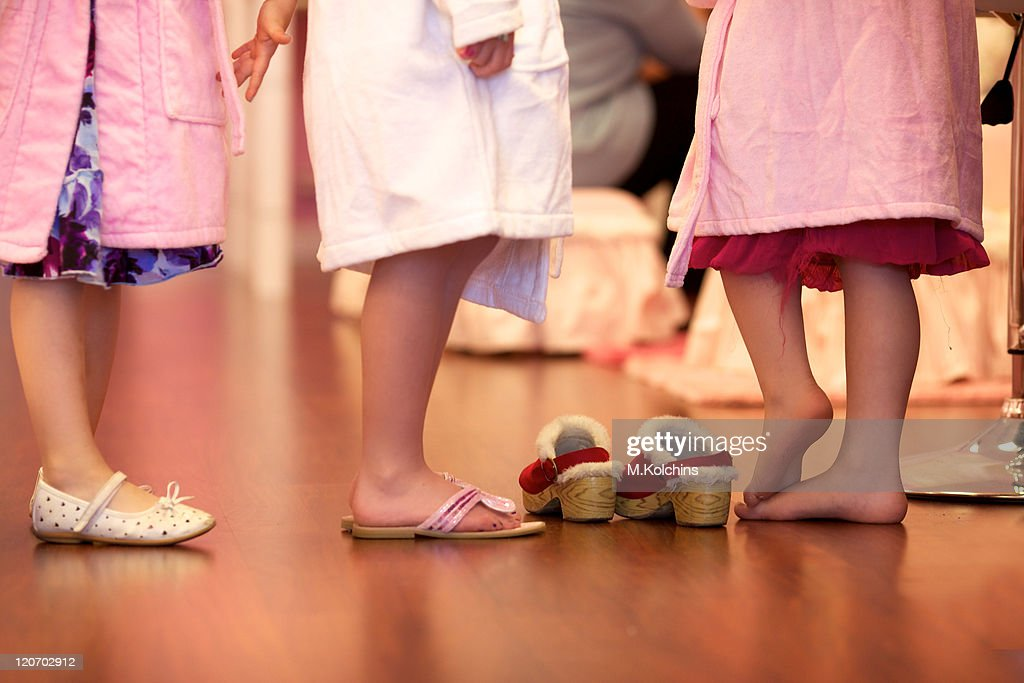 Little girls standing : Stock Photo