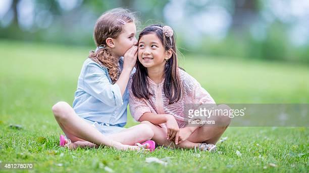 Little Girls Whispering