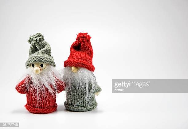 little goblins waiting for christmas. - goblin stock photos and pictures