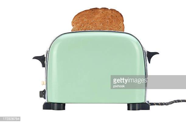 little green toaster with path - appliance stock pictures, royalty-free photos & images
