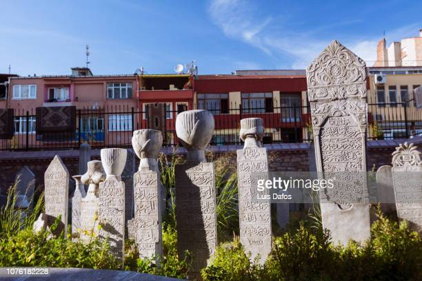 little hagia sophia, ottoman cemetery - dafos stock photos and pictures