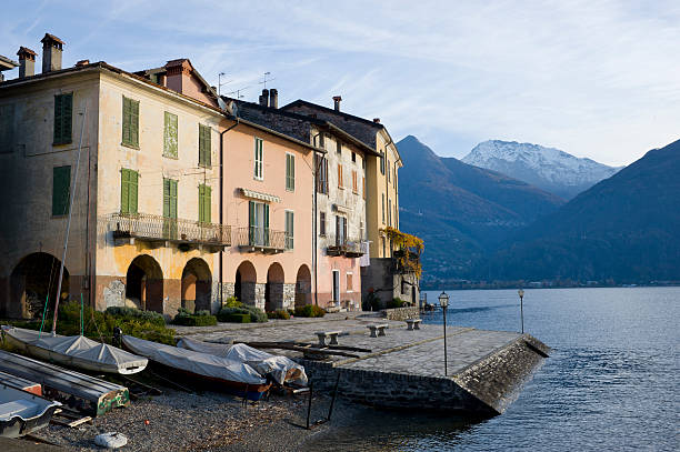 Little Harbour In Lake Como At Dawn Wall Art