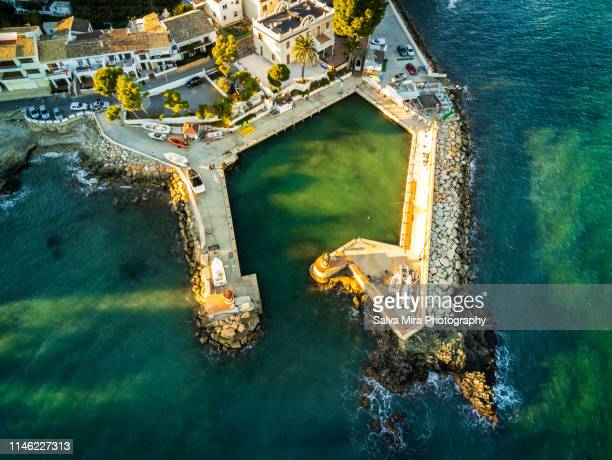 little harbour of altea - altea stock photos and pictures