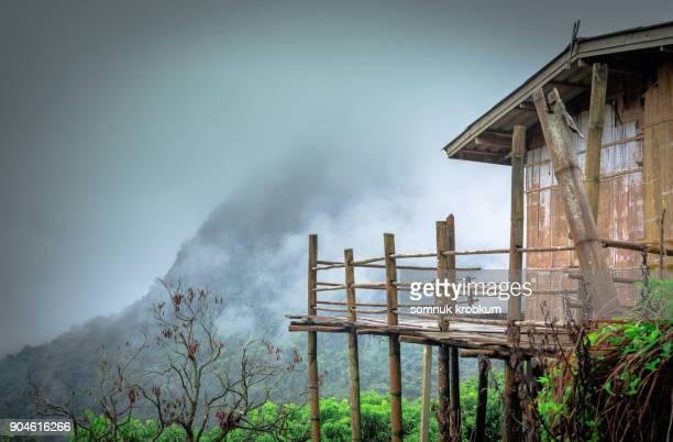 Little hut in winter in Thailand