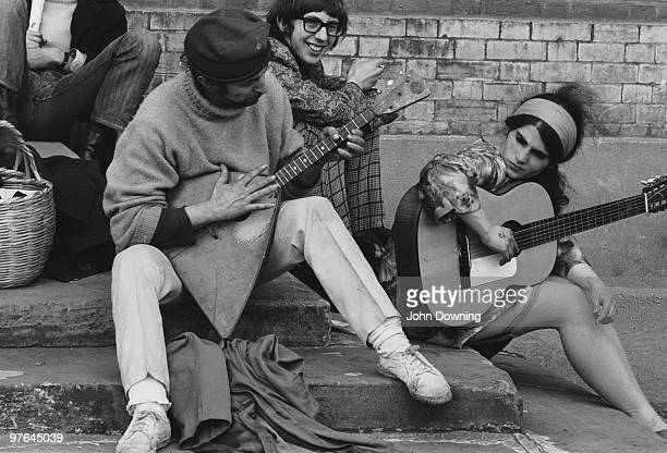 A little impromptu music during the 14 hour Technicolour Dream in the grounds of Alexandra Palace 29th April 1967