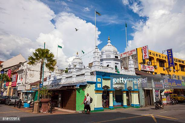 little india in george town, malaysia - george town penang stock photos and pictures