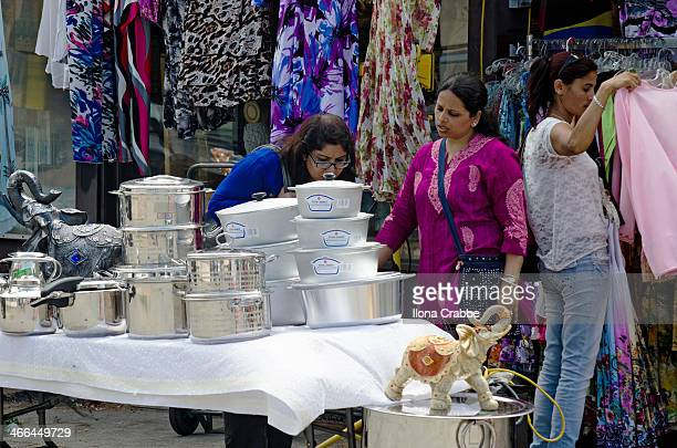 CONTENT] Little India street festival on Gerrard St in the east end of Toronto Ontario