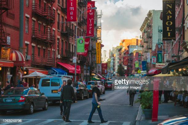Little Italy area of Canal Street, lower Manhattan, New York, New York State, United States of America.