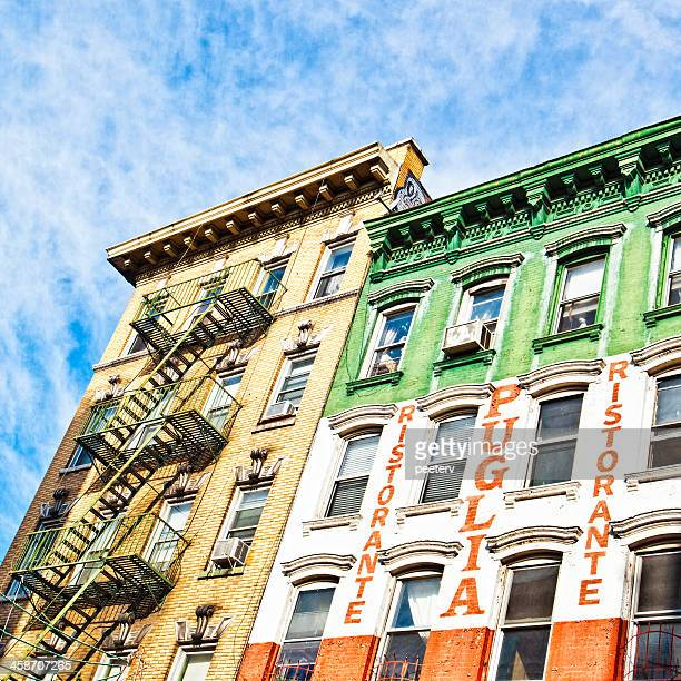 little italy buildings. - mulberry street stock pictures, royalty-free photos & images