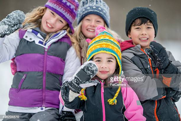 Little Kids in the Snow