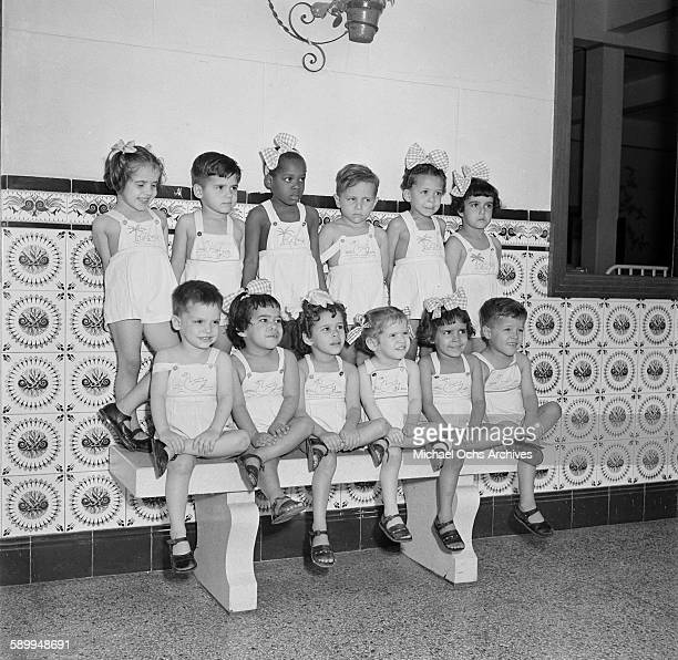 Little kids pose together at a Catholic orphanage in Kingston Jamaica