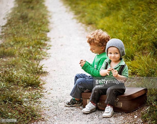 Kleine Kinder reisen