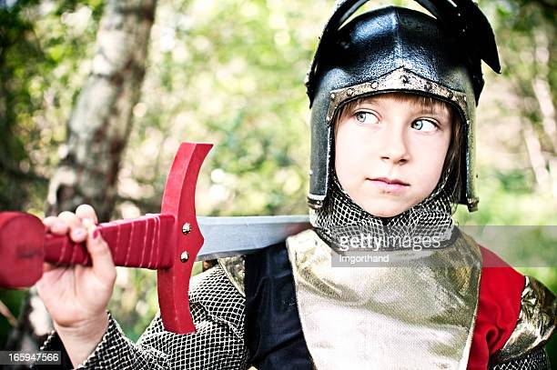 Little knight im Wald