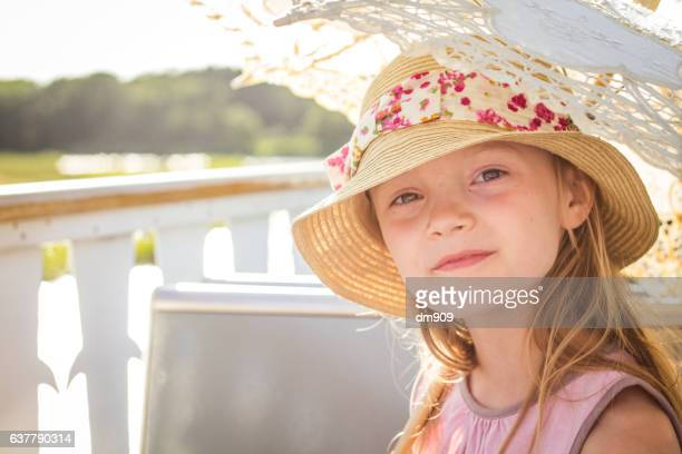 little lady on a boat