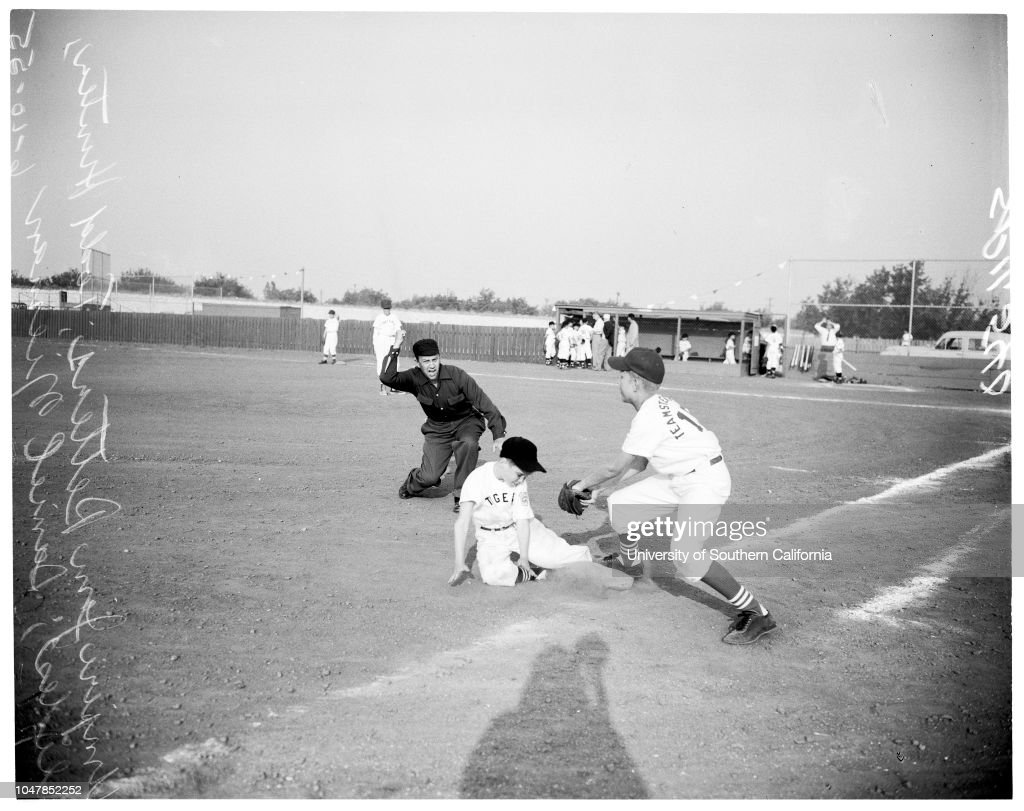 Little league baseball, 1955 : News Photo