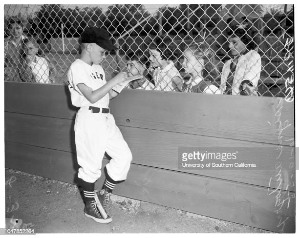 Little league baseball 10 June 1955 Bestway Market vs Teamsters Union Tigers 'Sports' Caption slip reads 'Photographer Jensen Date 1955610 Assignment...