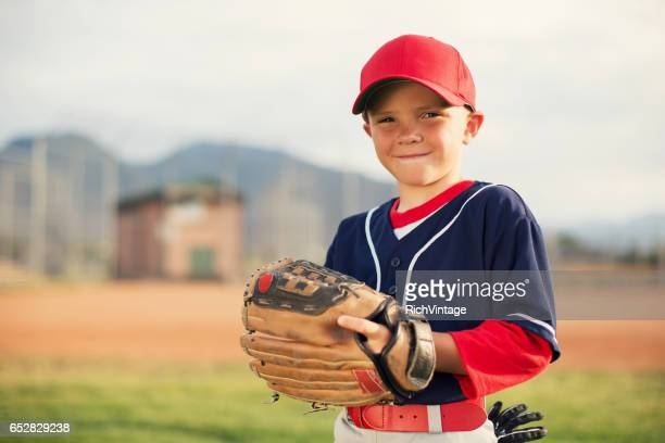 little league baseball boy portrait - baseball sport stock pictures, royalty-free photos & images