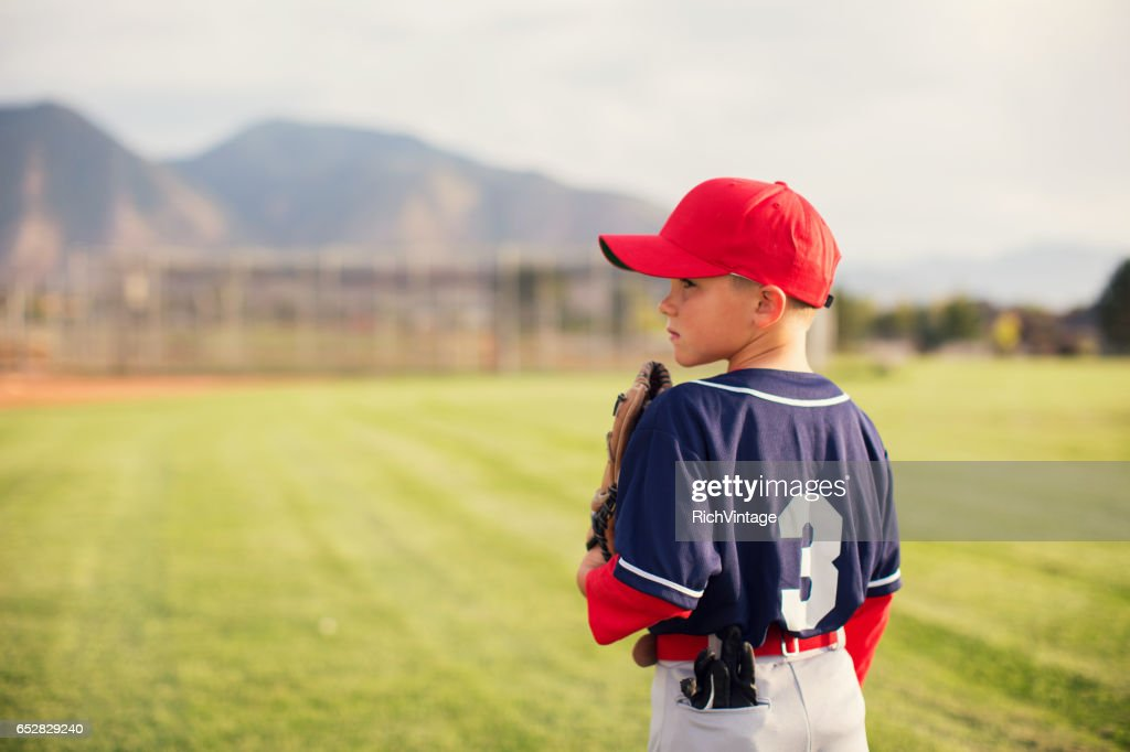 Little League Baseball Boy Profile : Stock Photo
