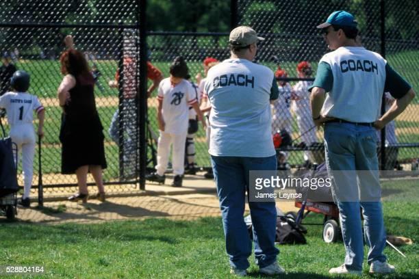 Little League Baseball Coaches Talking