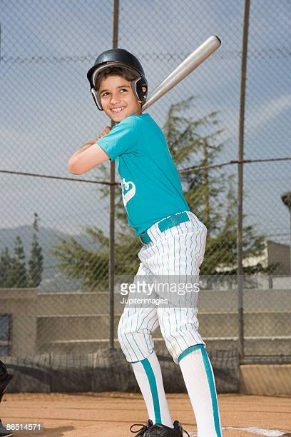 little league player up to bat - baseball uniform stock pictures, royalty-free photos & images