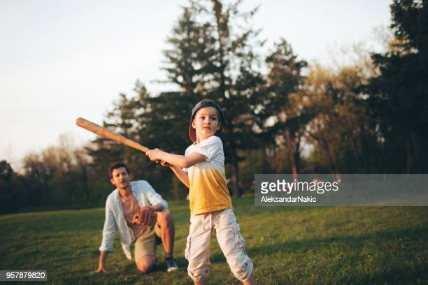little league practice with my dad - baseball sport stock pictures, royalty-free photos & images