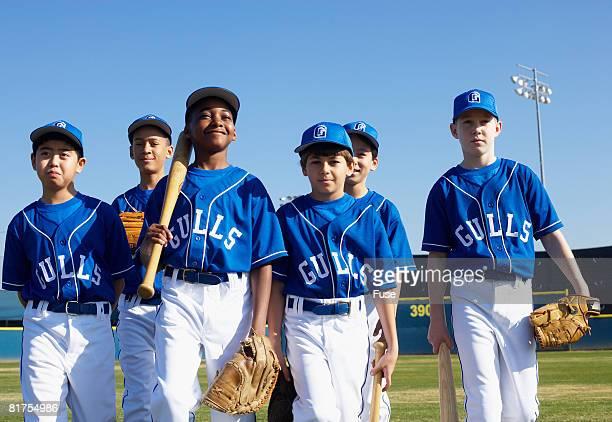 little league team - little league stock pictures, royalty-free photos & images