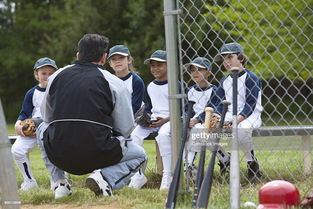 little league team playing ball : Stock Photo