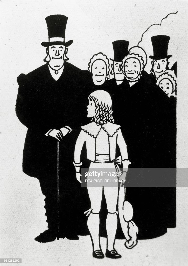 Little Lord Fauntleroy And Some Adults Illustration By Luigi Baldo