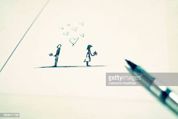 little love doodle - catherine macbride stock pictures, royalty-free photos & images