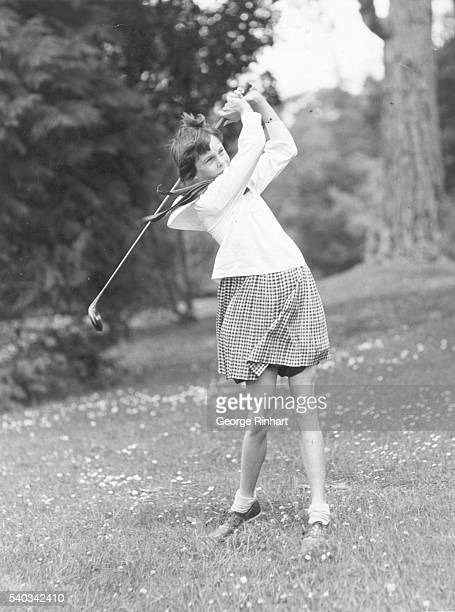 Little Miss Clara Callender aged nine is said to be the greatest girl golfer of her age in the United States Her daddy Eliot Callender Professional...