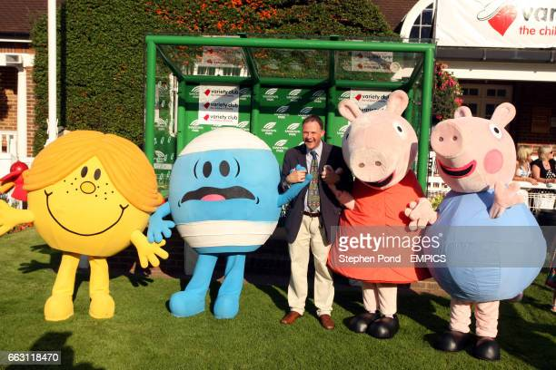Little Miss Sunshine Mr Bump Peppa Pig and George are interviewed in the winners enclosure