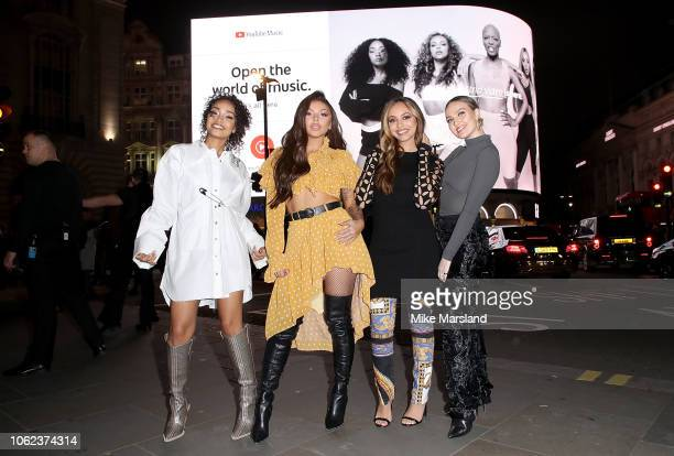 Little Mix and YouTube Music exclusively unveil their 'Strip' music video for the first time playing it on screens in Piccadilly Circus this weekend...