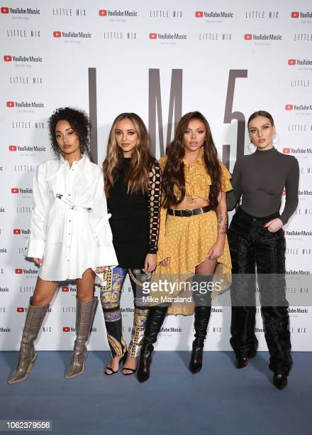 Little Mix and YouTube Music exclusively unveil their 'Strip' music video for the first time at a superfan event on November 16 2018 in London England