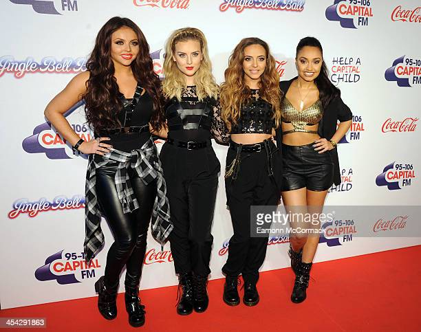 Little Mix attend on day 2 of the Capital FM Jingle Bell Ball at 02 Arena on December 8 2013 in London England