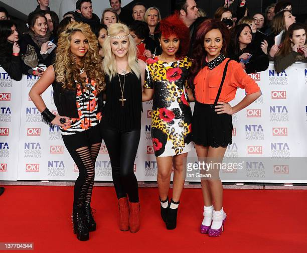 Little Mix attends the National Television Awards 2012 at the 02 Arena on January 25, 2012 in London, England.