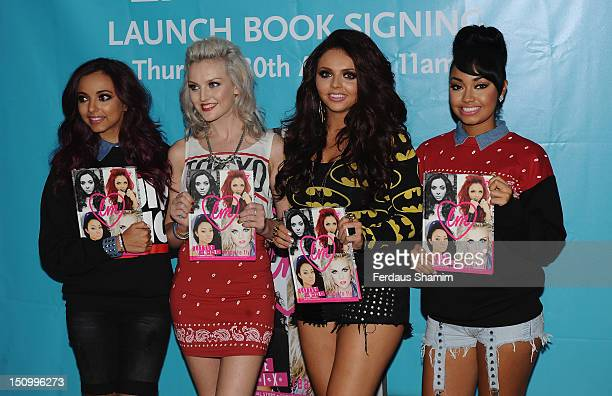 Little Mix Jade Thirlwall Jesy Nelson Perrie Edwards and LeighAnne Pinnock launch their autobiography 'Little Mix Ready To Fly' at WHSmith Bluewater...
