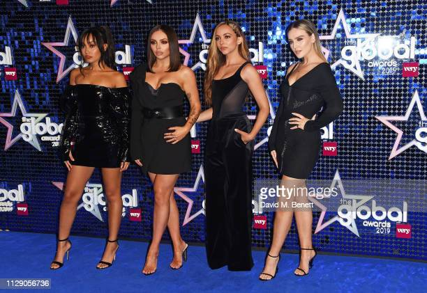 Little Mix LeighAnne Pinnock Jesy Nelson Jade Thirlwall and Perrie Edwards attend The Global Awards with Verycouk at the Eventim Apollo Hammersmith...