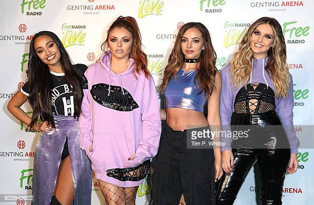 Little Mix LeighAnne Pinnock Jesy Nelson Jade Thirlwall and Perrie Edwards attend Free Radio Live 2016 at the Genting Arena on November 26 2016 in...