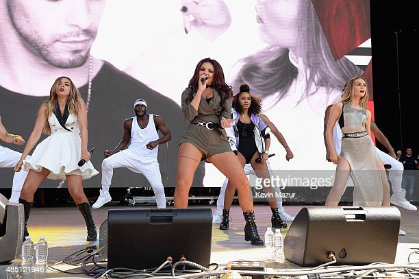 Little Mix performs during Billboard Hot 100 Festival Day 1 at Nikon at Jones Beach Theater on August 22 2015 in Wantagh New York