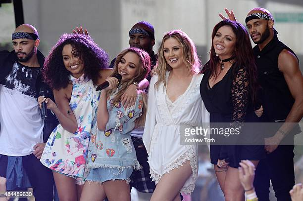 """Little Mix performs on NBC's """"Today"""" at Rockefeller Plaza on August 19, 2015 in New York City."""