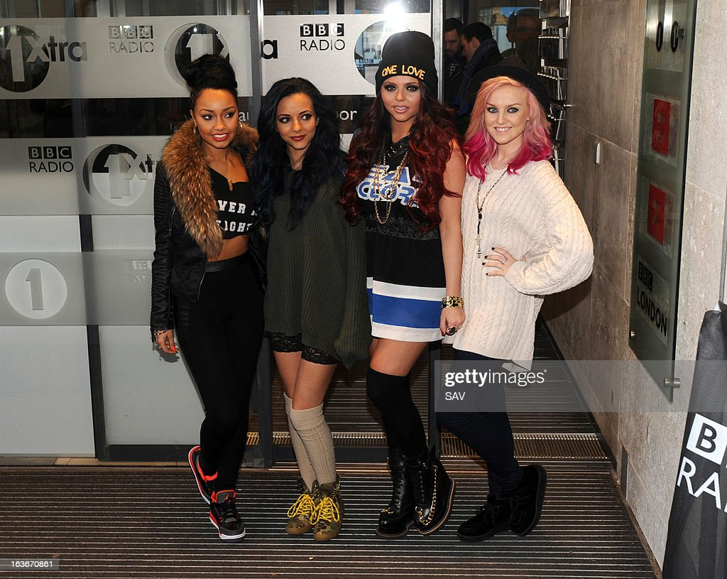 Little Mix pictured at Radio 1 for Comic relief on March 14, 2013 in London, England.
