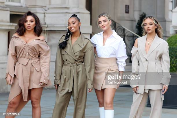 Little Mix seen leaving the Langham Hotel ahead of their performance of BBC Radio One Live Lounge on September 15 2020 in London England