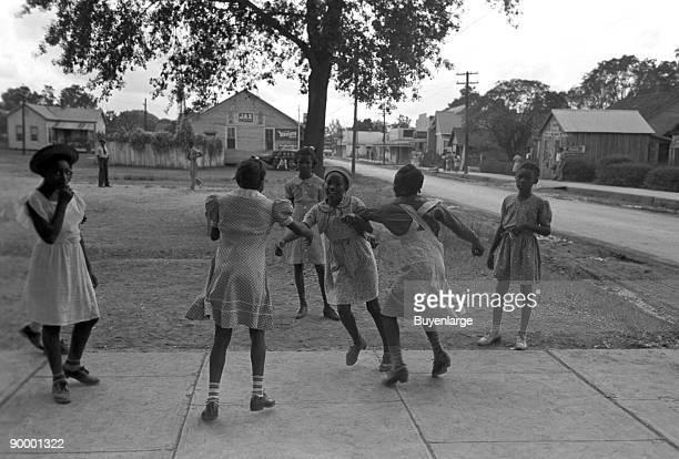 Little Negro girls playing Lafayette Louisiana